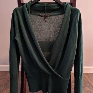 Emerald green cashmere/silk sweater